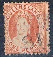 Queensland 44 Used Queen Victoria 1876 (HV0075)
