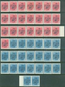 NORWAY : 1960. Scott #B64-65 World Refugee Year. 22 sets. VF, Mint NH. Cat $528.