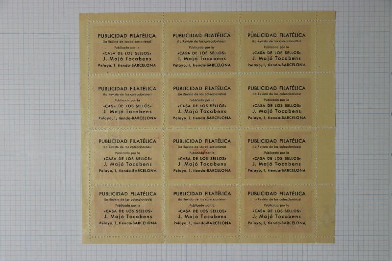 Barcelona Spain Travel ad Philatelic magazine sheet poster tourist club stamp DM