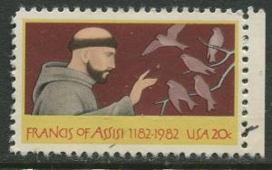USA - Scott 2023 - Francis of Assisi- 1982 - MLH - Single 20c Stamp