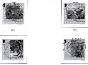 Isle of Man Sc 1307-0Mills & Millers self ad stamp set used