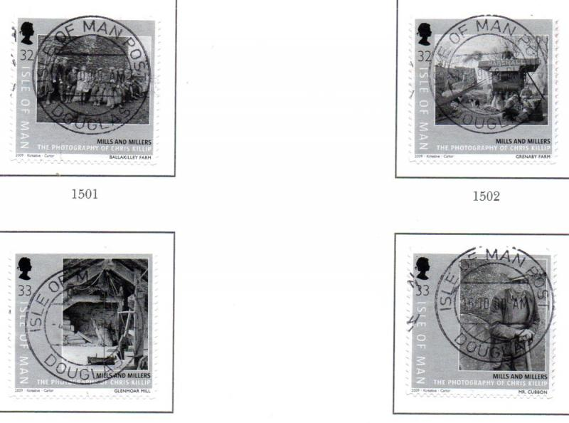 Isle of Man Sc 1307-0Mills & Millers self ad stamp set used