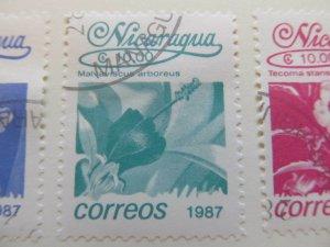 Nicaragua 1987 Flower 10cor fine used stamp A11P11F80