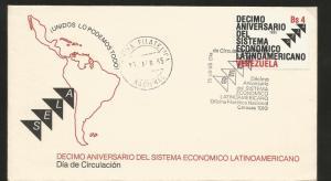 E)1985 VENEZUELA, TENTH ANNIVERSATY OF THE LATIN AMERICAN ECONOMIC SYSTEM, SELA,