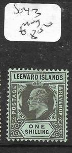 LEEWARD ISLANDS  (PP0105B) KE  1/-  SG 43  MOG