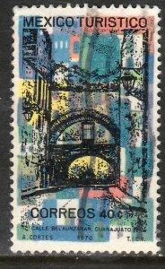 MEXICO 1012, TOURISM PROMOTION, GUANAJUATO CITY STREET. USED. VF.  (1248)