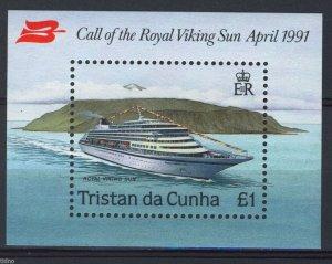 Tristan da Cunha 1991, Ship, cruise ship Royal Viking S/S MNH