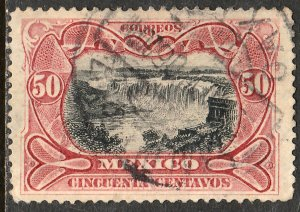 MEXICO 301 50cents JUANACATLAN WATER FALLS. USED. F-VF.  (193)
