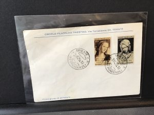Anno Mariano 1954 Trieste used stamps cover  Ref R28414