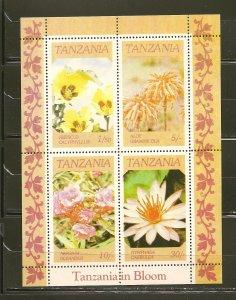 Tanzania 318a Indigenous Flowers Souvenir Sheet MNH