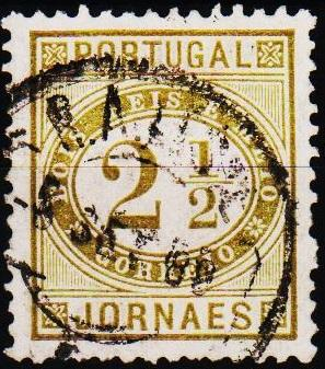 Portugal. 1876 2 1/2r S.G.N178 Fine Used