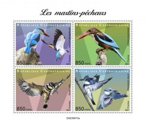 C A R - 2021 -Kingfishers - Perf 4v Sheet - Mint Never Hinged