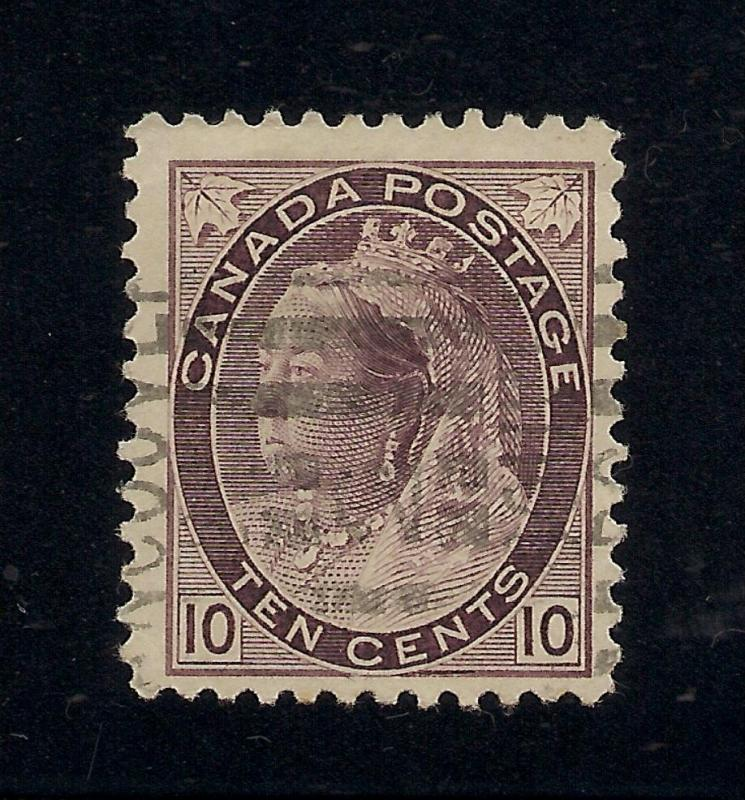 Canada #83 Brown Violet - 10 Cents - Vancouver Cancel