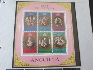 Anguilla 1975 Sc 228a Christmas Religion set MNH