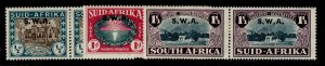 SOUTH WEST AFRICA GVI SG111-113, complete set, M MINT. Cat £65.