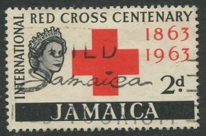 Jamaica -Scott 203- Red Cross Issue -1963 - Used - Single 2p Stamp