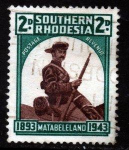 SOUTHERN RHODESIA KG VI 1943 50th Anniv of Occu Of Matabeleland SG 61a VFU