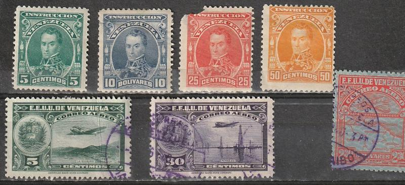 Venezuela Used Lot Air Mail & Registration