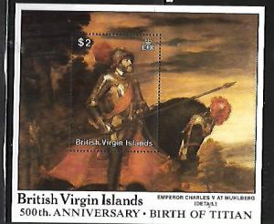 BRITISH VIRGIN ISLANDS, 603, HINGE REMNANT, SS, PAINTINGS BY TITIAN