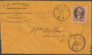 EB HASTINGS ATTY AT LAW ON COVER UTICA, NY JULY 11 CDS RETURN TO WRITER BL1480