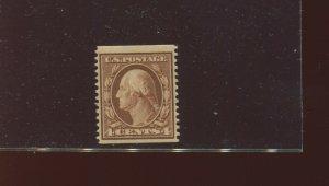 Scott 354 Washington Mint Coil Stamp with William T Crowe Cert (Stock 354-1)