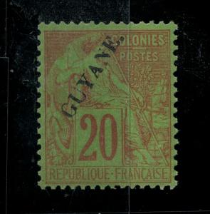 French Guiana 1892 24 Mint SCV $55.00