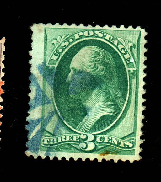 U.S. #136 Used VF-XF Blue cancel Cat $37.50