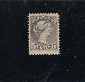 CANADA # 42 VF-MLH JUMBO MARGIN 5cts SMALL QUEEN CAT VALUE $300