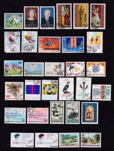 Liechtenstein a small used & odd mint lot from about 1991