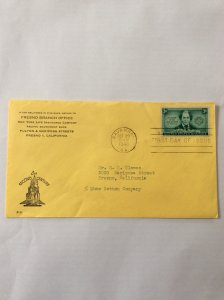 1948 Juliette Gordon Low 3c First day cover. Savannah GA post mark to Fresno.