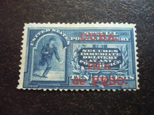 Stamps - Cuba-Scott# E1 -Mint Hinged Single Stamp- Surchaged & Overprinted