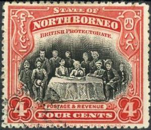 North Borneo #140 4c Meeting of the Assembly Used/H