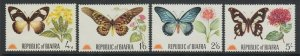 Biafra (Nigeria), 1968 Butterflies Series, MNH