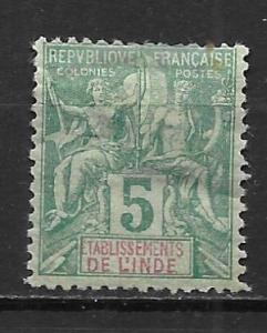 French India 4 1892-1907 5c Navigation and Commerece single MH