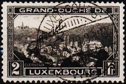 Luxembourg. 1928 2f S.G.O317 Fine Used