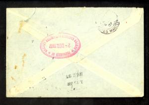 GREAT BRITAIN FORWARDING AGENT 1907 USA Cover BARING BROTHERS