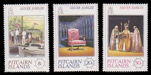 Pitcairn Islands 160 - 162 MNH
