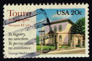 US #2017 Touro Synagogue; Used (0.25)