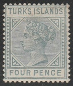 Turks Islands #50 Mint Hinged Single Stamp cv $38