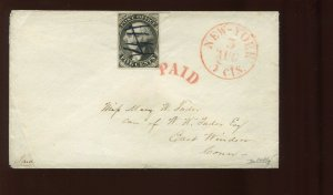 9X1e Washington Postmasters Provisional Stamp on Cover w/ Asinelli Cert (9X1 A1)