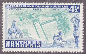 Southern Rhodesia 77 Dam and Natives 1953