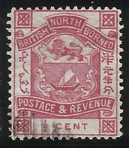 North Borneo 25 1/2c Used Fine Centering