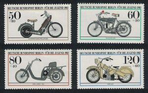 Berlin Motor Cycles 4v 1983 MNH SG#B656-B659
