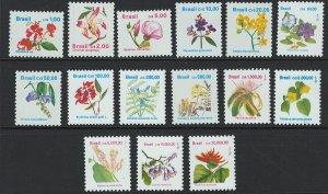 Brazil Scott 2259-2273 Flowers! MNH! Complete!
