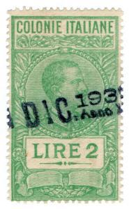 (I.B) Italy (Eritrea) Revenue : Duty Stamp 2L