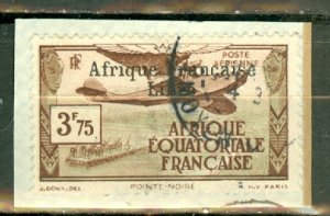 AH: French Equatorial Africa C11 used tied to piece CV $240