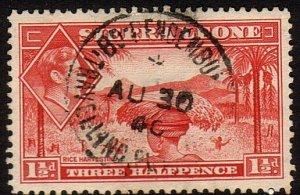 SIERRA LEONE 1940 GVI 1½d - BO - PENDEMBU TRAVELLING POST OFFICE cds.......47349