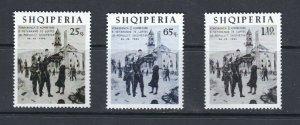 ALBANIA - 1965 WORLD WAR II VETERANS - SCOTT 853 TO 855 - MNH