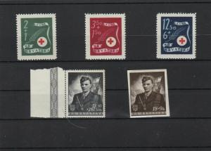 croatia stamps on card unmounted mint