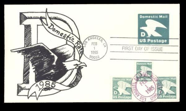 Domestic Rate D Eagle #U507 & #2111-2-3 FDC